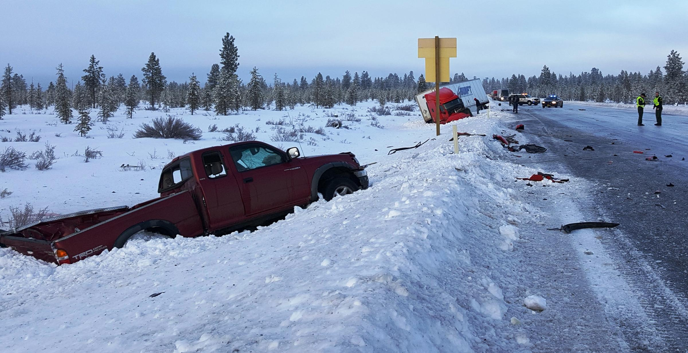 Across Oregon, Hundreds Of Crashes And One Fatality Blamed On