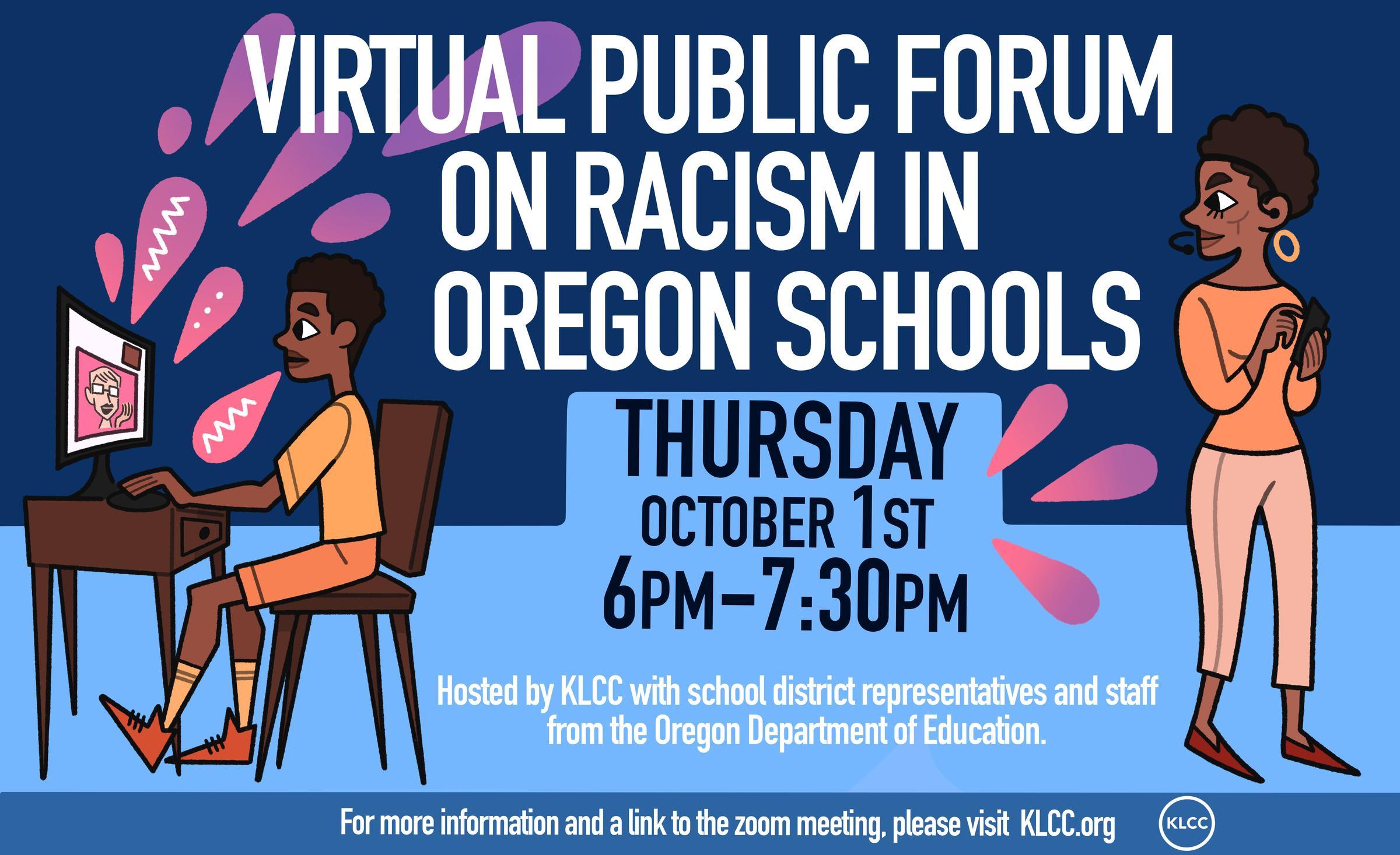 Virtual Public Forum: Racism in Oregon Schools