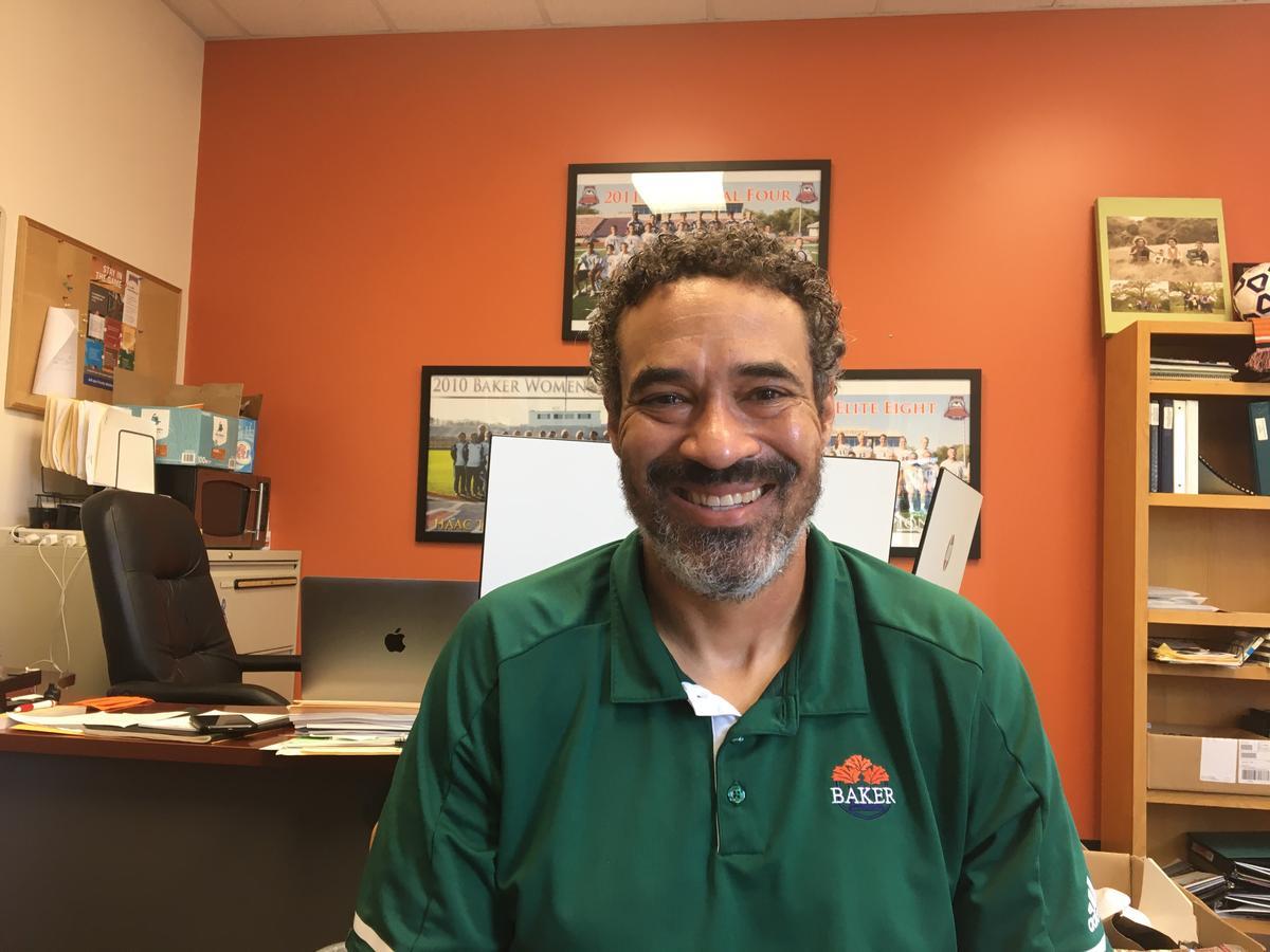 Nate House is Baker University's athletic director. (Photo by Greg Echlin for the Kansas News Service)