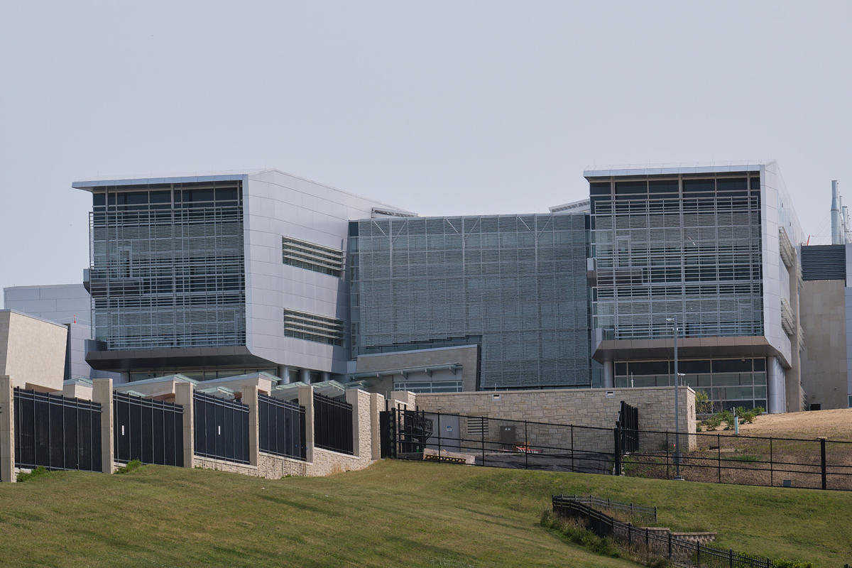 The National Bio and Agro-Defense Facility in Manhattan, Kansas is nearing completion. (Photo by Brian Grimmett, Kansas News Service)