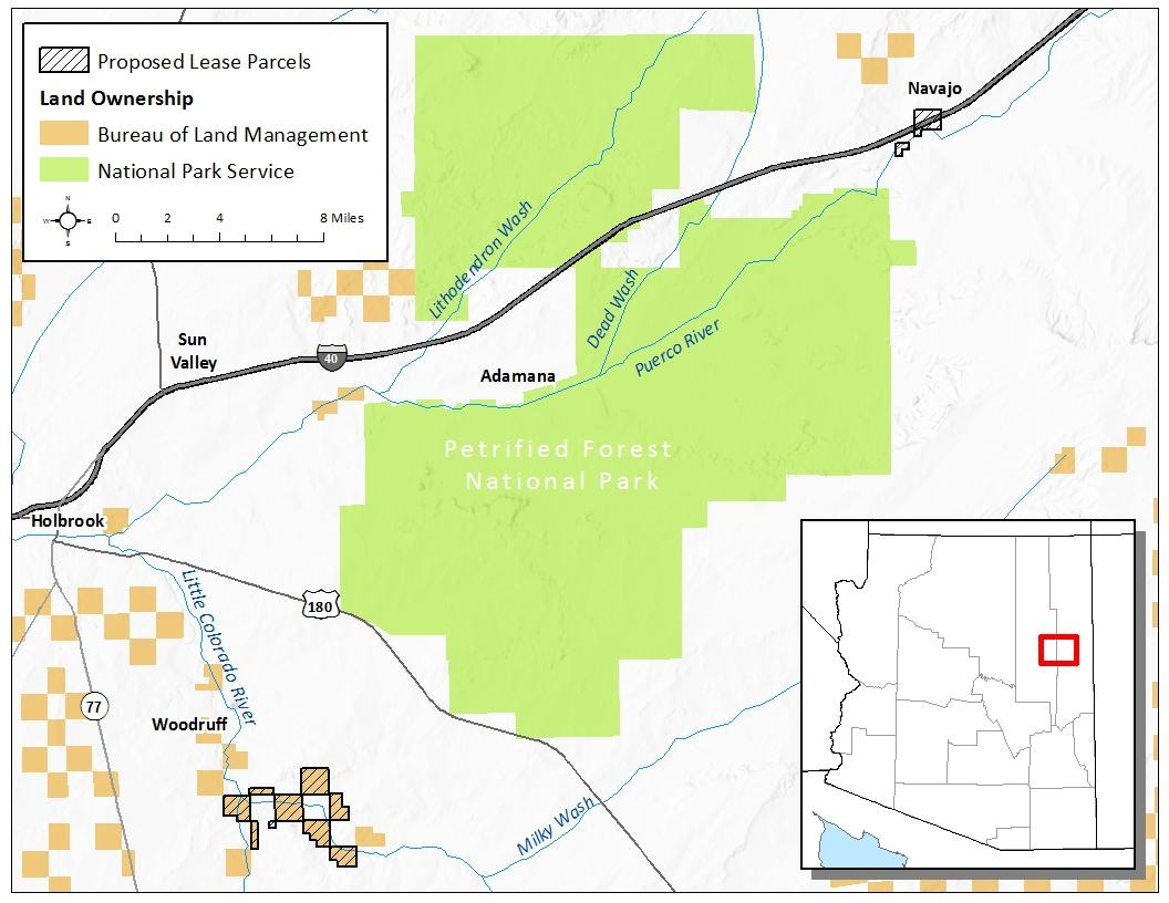 Map Of North Arizona.Blm Will Offer Oil And Gas Leases On 4 200 Acres In Northern Arizona