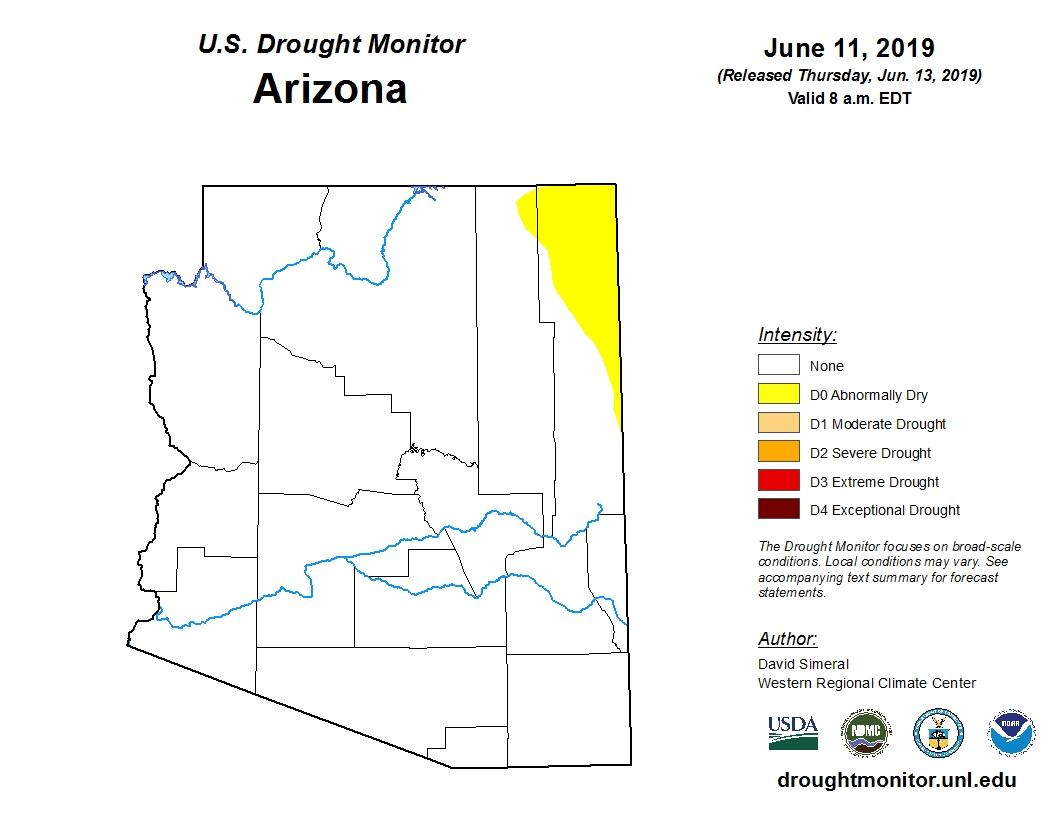 Map Shows Arizona Free of Short-Term Drought | KNAU Arizona ...