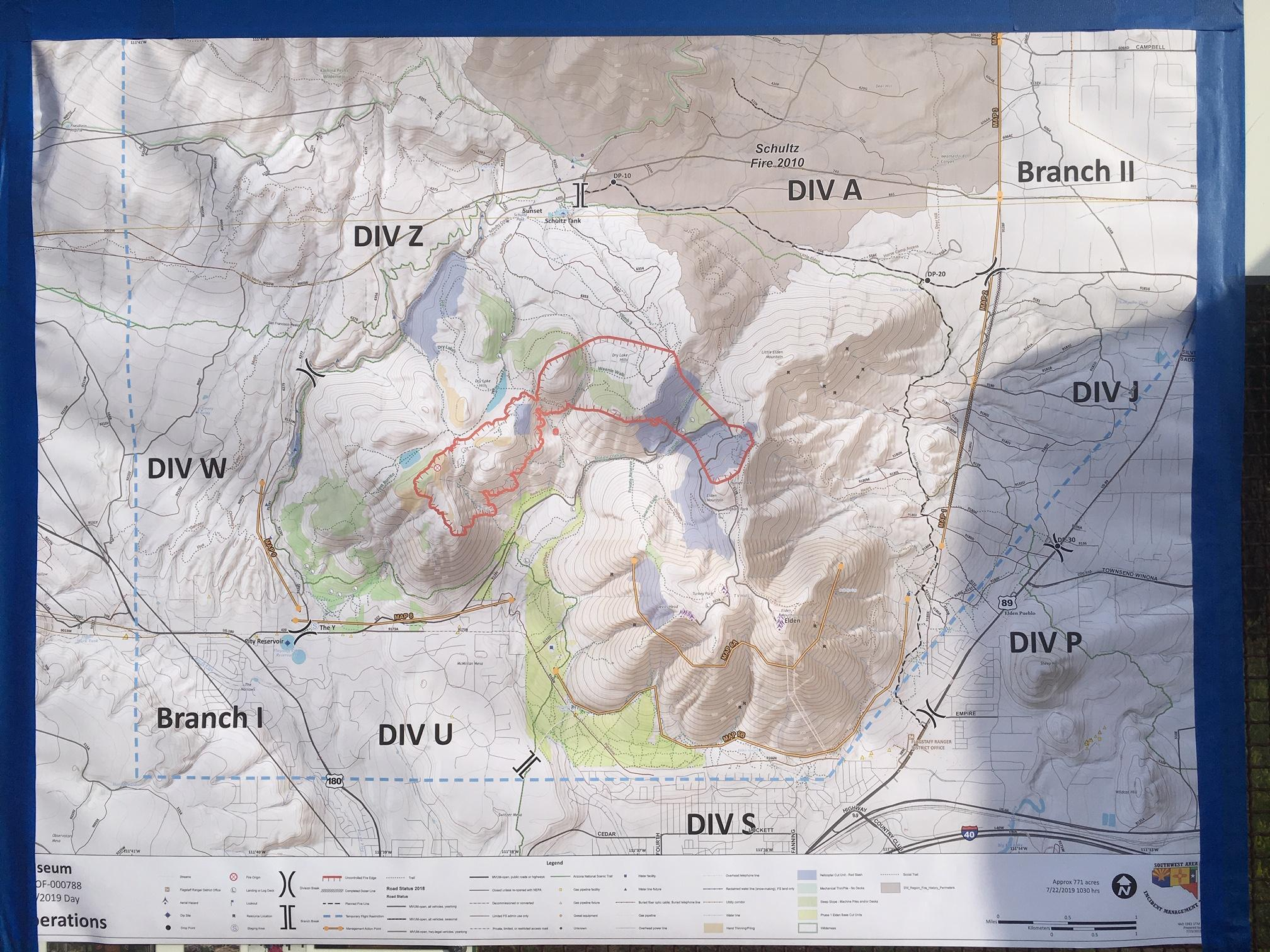Map Of Southwest Arizona.Updated Museum Fire Map Knau Arizona Public Radio