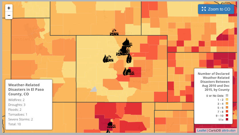 Map Shows Extreme Weather Events in Colorado Since 2010 | KRCC