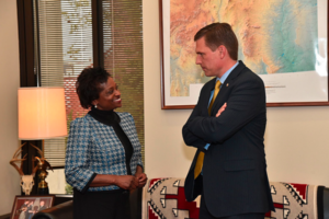 Heinrich Meets With FCC Commissioner Clyburn On Tribal Broadband, Net Neutralit | KRWG