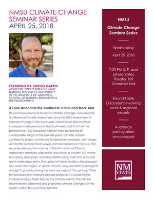 Climate Change Series Coming To NMSU Las Cruces | KRWG