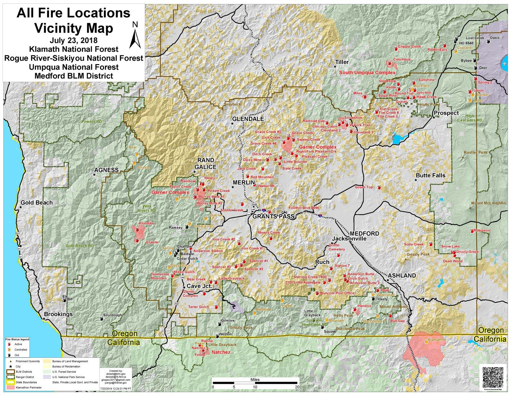 Map Of Oregon Fires Worth A Thousand Words Or More: Southern Oregon Fire Map  Map Of Oregon Fires