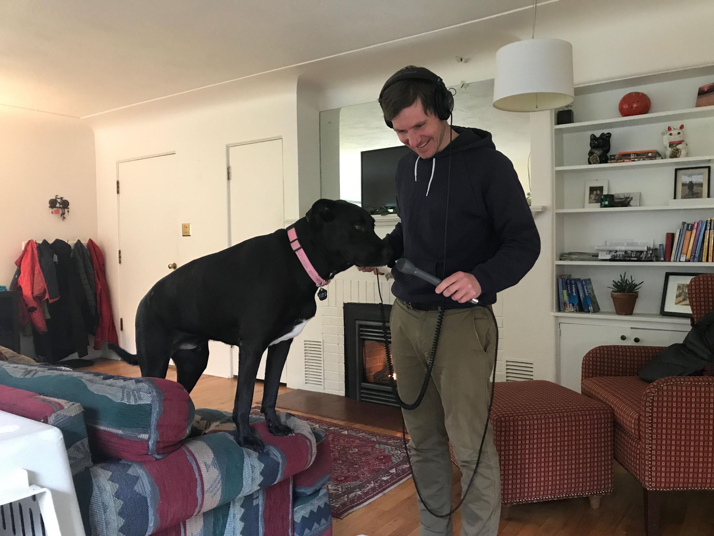 JPR reporter Erik Neumann interviews Sam a foster dog in Ashland that is currently up for adoption