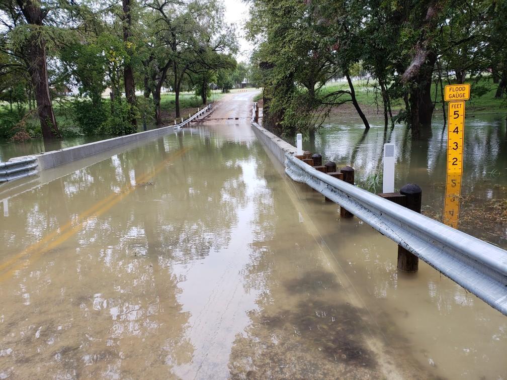 Heavy Rains Cause Bridge Over Llano River To Collapse