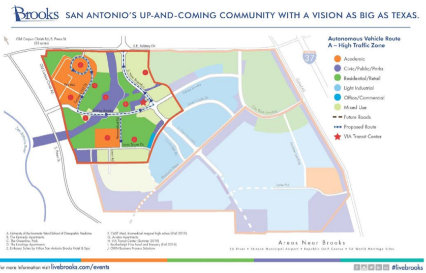 Autonomous Shuttles May Come To San Antonio's Brooks City ... on new jersey traffic map, city traffic map, tx map, usa map, missouri traffic map, east bay traffic map, lackland afb map, asheville traffic map, massachusetts traffic map, washington traffic map, maine traffic map, galveston traffic map, phoenix traffic map, nevada traffic map, mapquest mississippi louisiana map, seguin texas map, bay area traffic map, newark traffic map, tacoma traffic map,