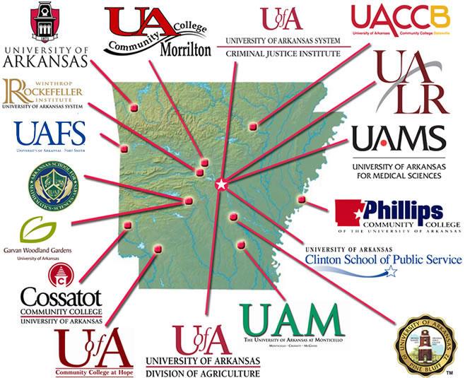 universities in arkansas map Ua S Online Only University S First Employees Start Work Kuar