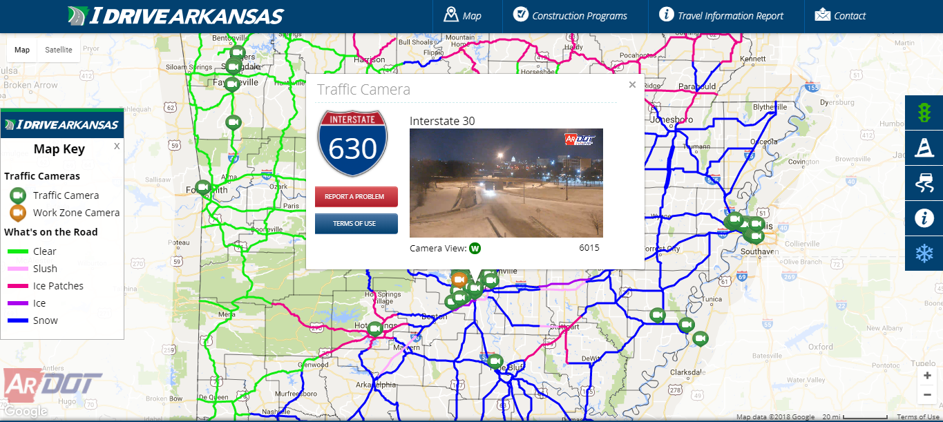 Arkansas Road Conditions Map Latest Information On Arkansas Road Conditions | KUAR