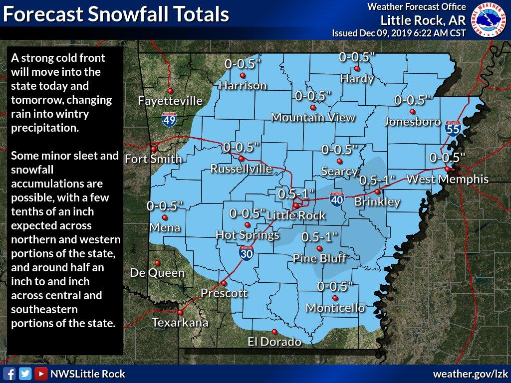 Strong Cold Front Expected To Bring Snow To Arkansas | KUAR