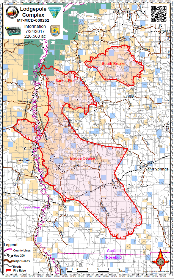 Montana Wildfire Map 2017 Montana Wildfire Roundup For July 24, 2017 | MTPR