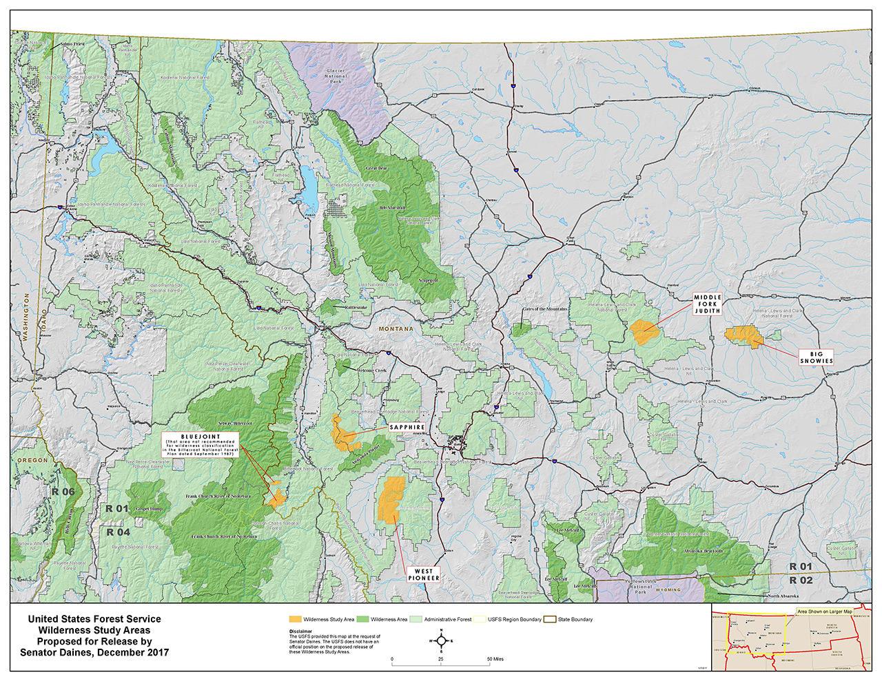 Map Of Arizona Public Lands.Montana Wilderness Bills Get First Senate Hearing Mtpr