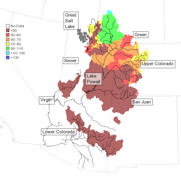 Low Snowpack Aggravates Water Supply Forecasts For Colorado ... on colorado soil map, colorado smoke map, colorado wind map, colorado drought map, colorado natural gas map, colorado fiber map, colorado beer map, colorado shale map, colorado snow map, colorado rv map, colorado geology map, colorado backroads map, colorado temperature map, colorado water map,