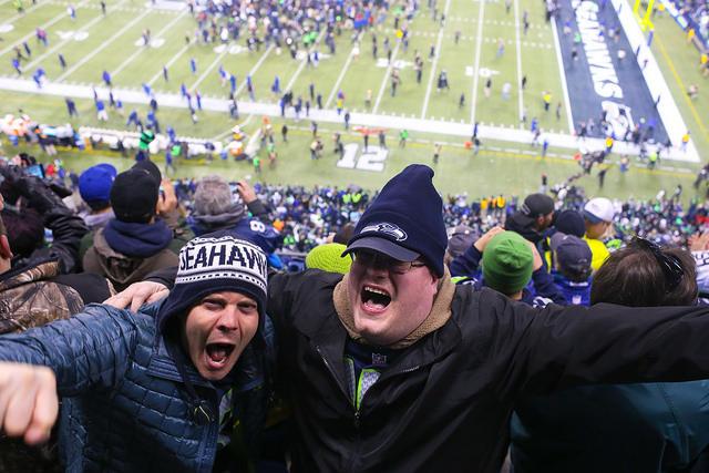 Seattle Seahawk fans at Century Link Field.