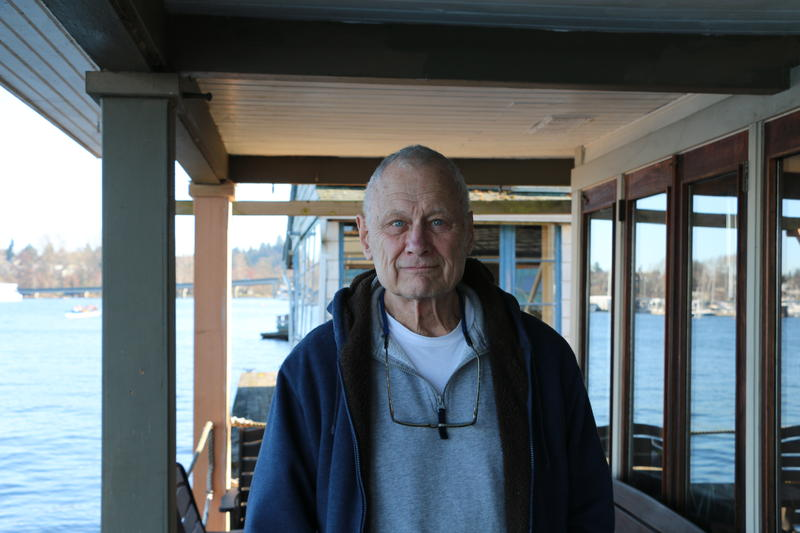 Mack has lived on a houseboat in Seattle's Portage Bay since 1968.