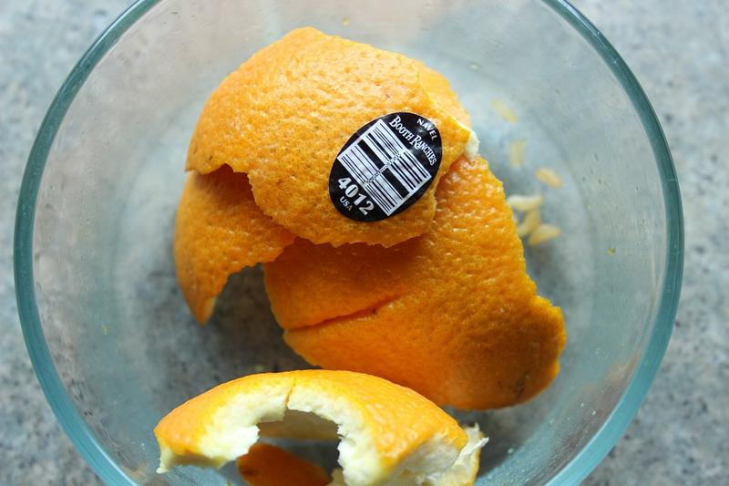 Does this orange peel belong in the trash, recycling or compost?