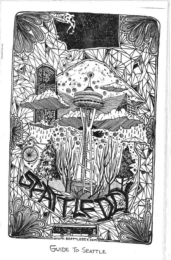 The cover of the Seattle DIY zine from the Zine Archive and Publishing Project collection. The collection of 30,000 or so zines is currently in cold storage at a Seattle Public Library warehouse.