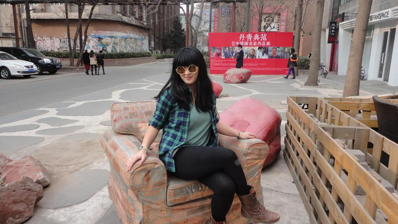 """Lydia Nasser in China: """"This was just me standing alone, Lydia and China."""""""