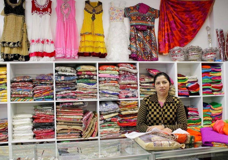 Paramjit Kaur, owner of Fashion India Botique, is one of many entrepreneurs courted by Sam Virk to set up shop in his International Plaza development in Kent. Click on this image for more photos.