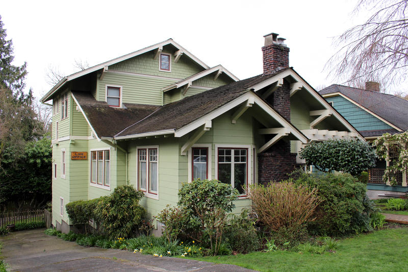 A classic Craftsman in Seattle's Mount Baker neighborhood. Most of the neighborhood was developed in the early 20th century when architecture was in its heyday.