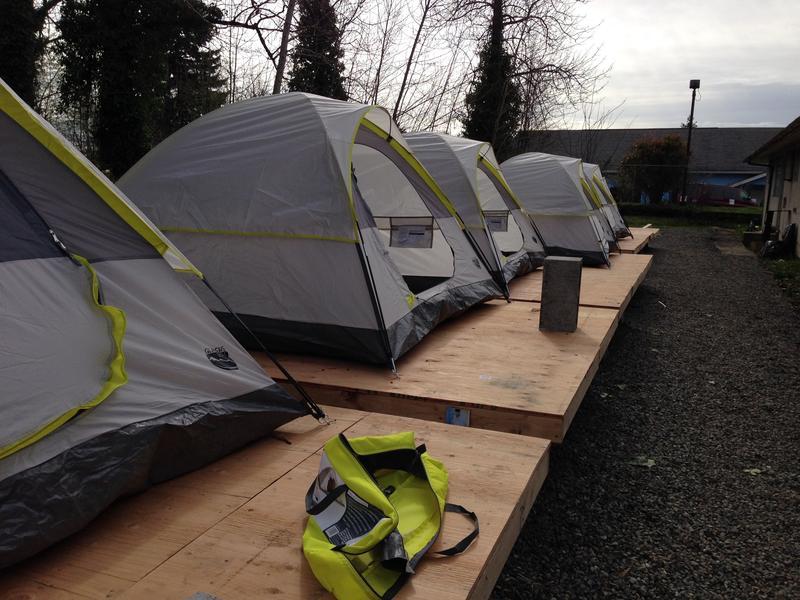 A homeless encampment in Seattle's Rainier Valley, taken March 2016.