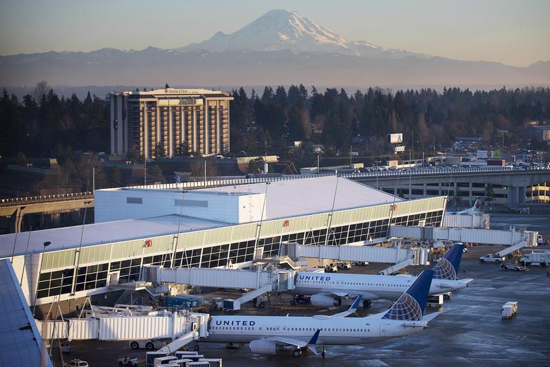 Seattle-Tacoma International Airport and Mt. Rainier