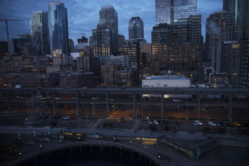 The Alaskan Way Viaduct is shown on Friday, March 9, 2018, in Seattle.