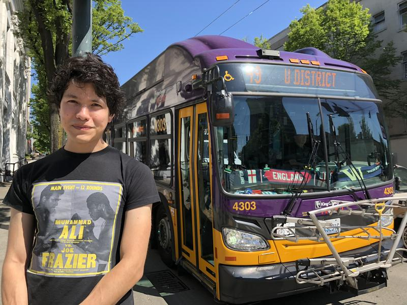 Filmmaker, photographer, and King County Metro Transit bus driver Nathan Vass.