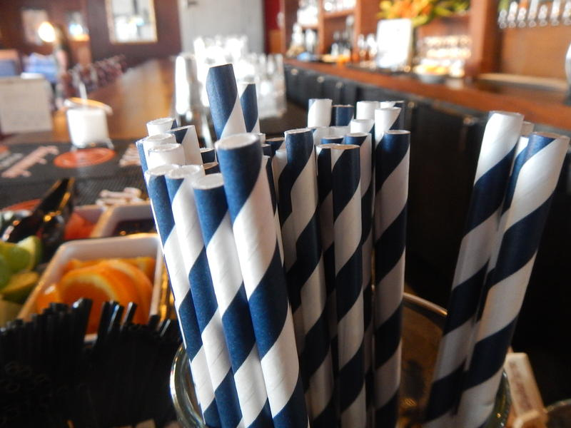 Paper straws at Duke's Seafood & Chowder in Seattle