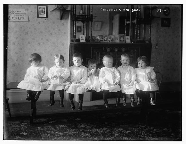 Children from the Children's Aid Society. The Children's Aid Society was founded to find homes for poor children of big Eastern cities. Its critics say that Catholic children were forcibly removed and sent to perform slave labor on Midwestern farms.