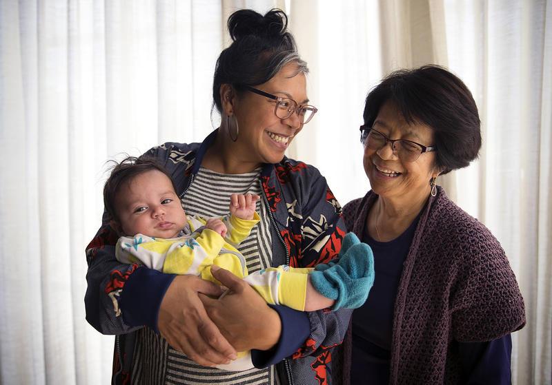 Three generations of Garbes women: Angela, Josie, and baby Ligaya.