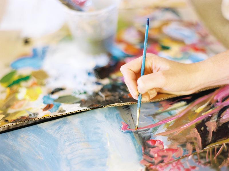 Niki Keenan at work in her home studio