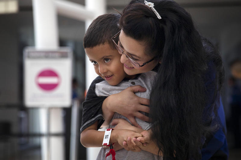 Yolany Padilla hugs her 6-year-old son Jelsin after being reunited on Saturday, July 14, 2018, at Seattle-Tacoma International Airport. Tap or click on the first image to see more.