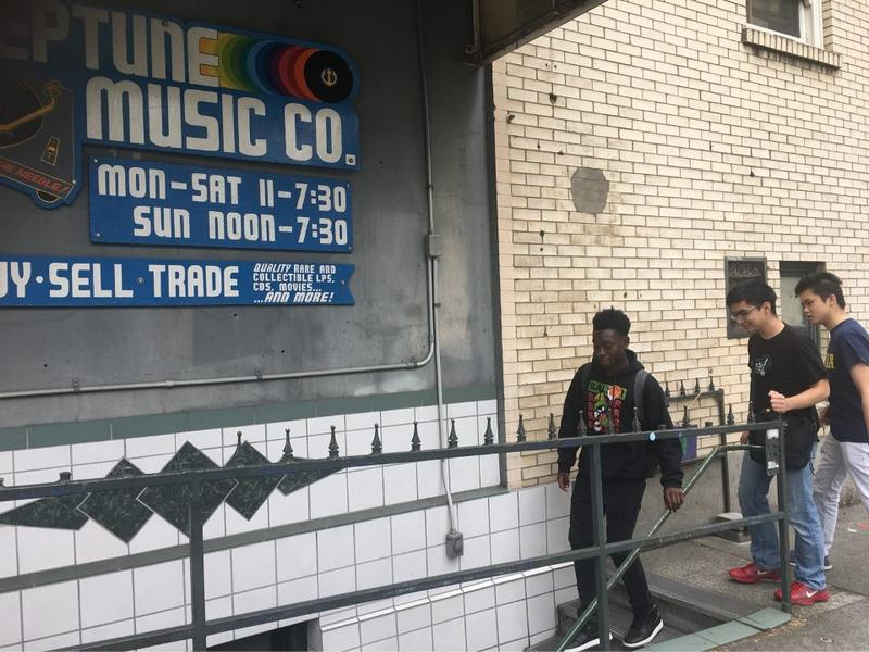 RadioActive's Tre'vion Sinclair, Kenny Ou and Joshua Fernandes go to meet Dave Sandlund at Neptune Music in the University District.