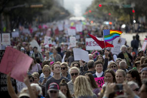 PHOTOS: On Anniversary Of Trump's Inauguration, Austinites Rally For Second Women's March