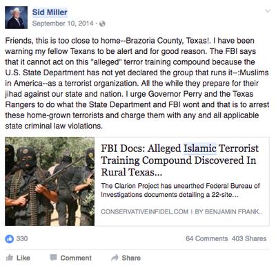 On Texas Ag Chief Sid Miller's Facebook, Fake News Flows