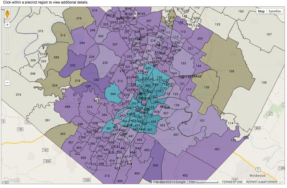 Travis County Precinct Map Austin's Rail and Roads Bond Defeated | KUT