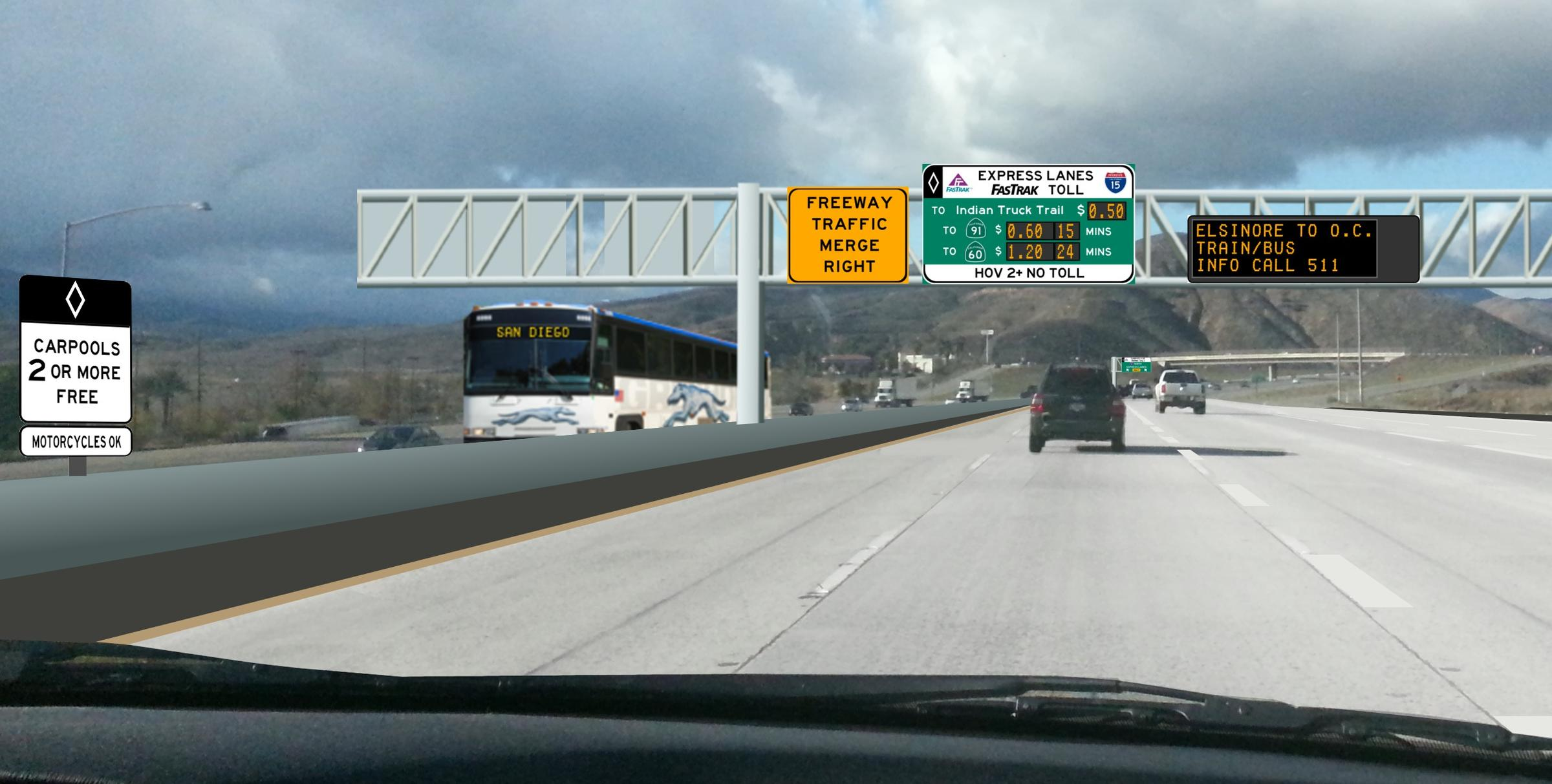 Toll Lanes Project On 15 Fwy South of Corona Gets Final Piece Of