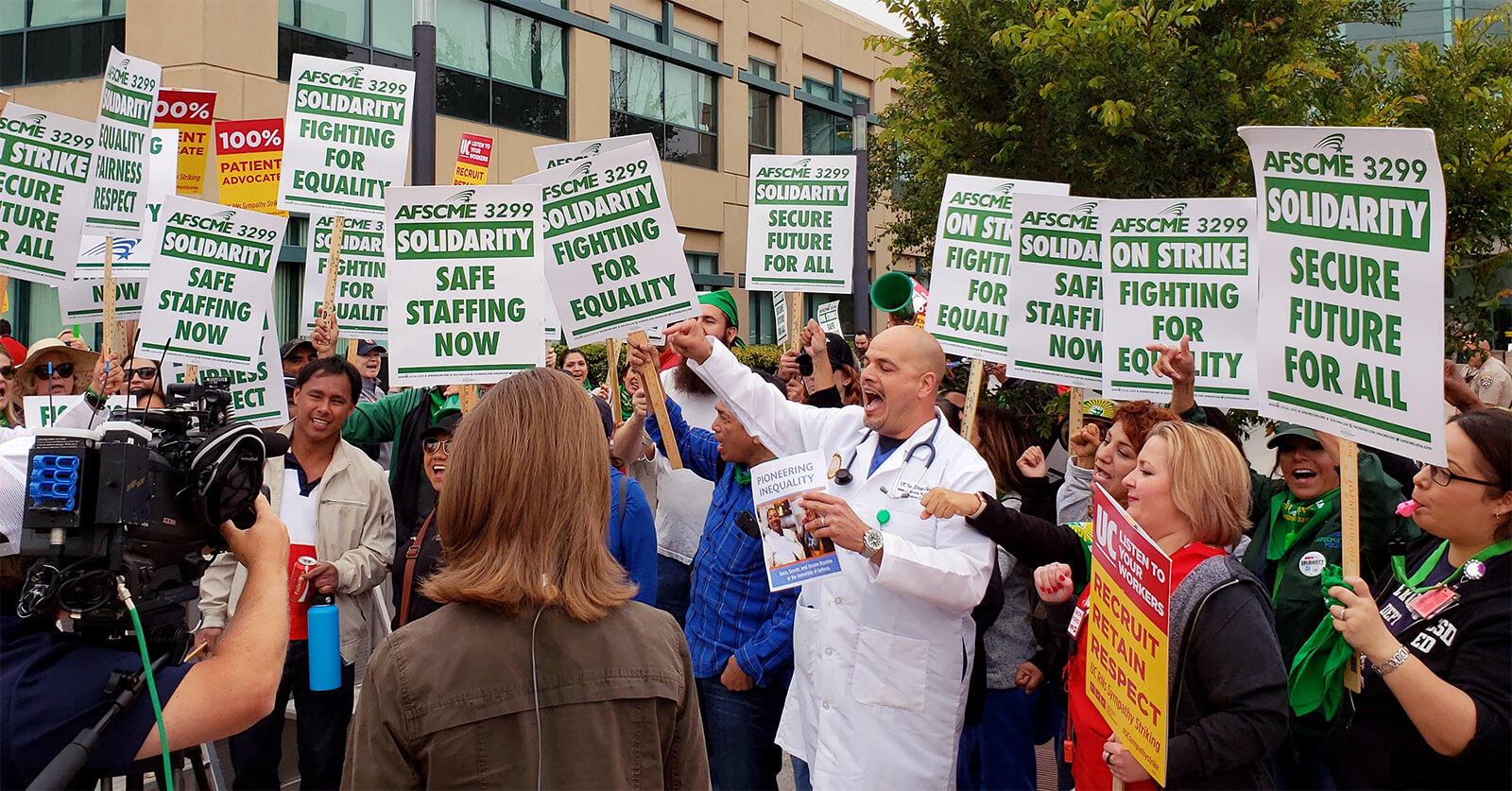 UC Nurses, Hospital Staff Join Service Workers' Strike | 91 9 KVCR