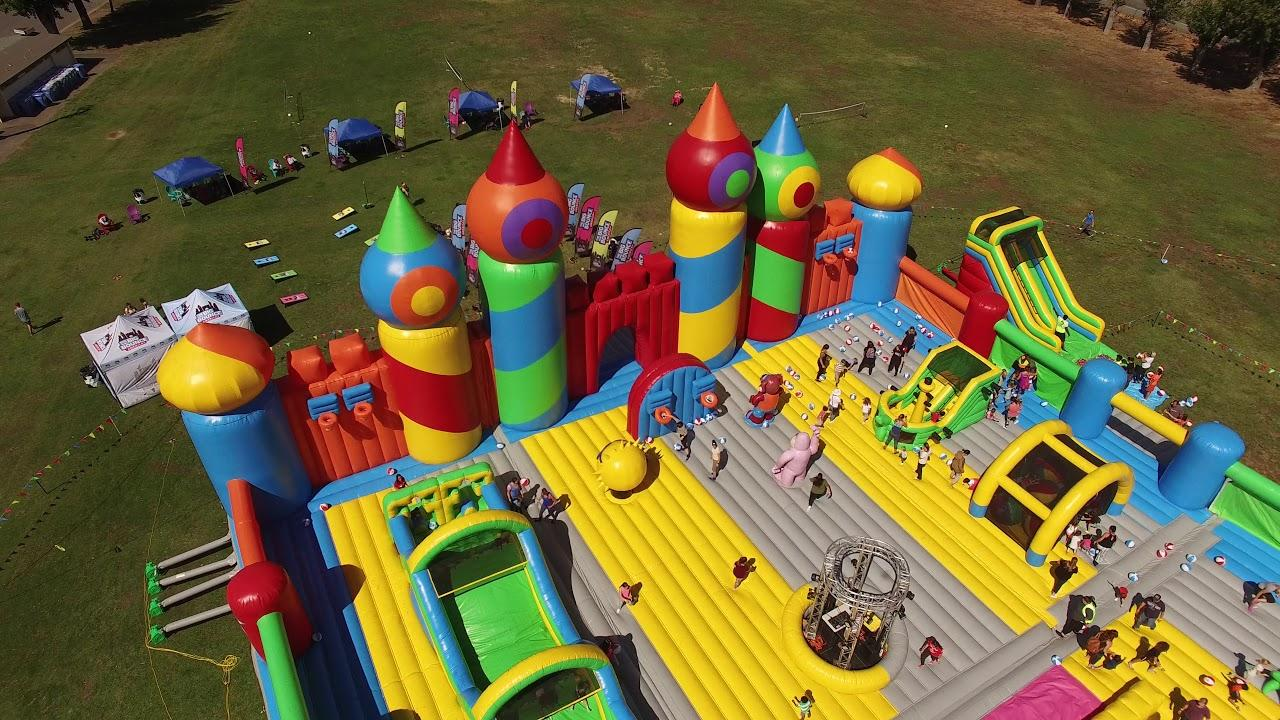 Pleasant Worlds Biggest Bounce House Bound For Horsetown 91 9 Kvcr Interior Design Ideas Lukepblogthenellocom