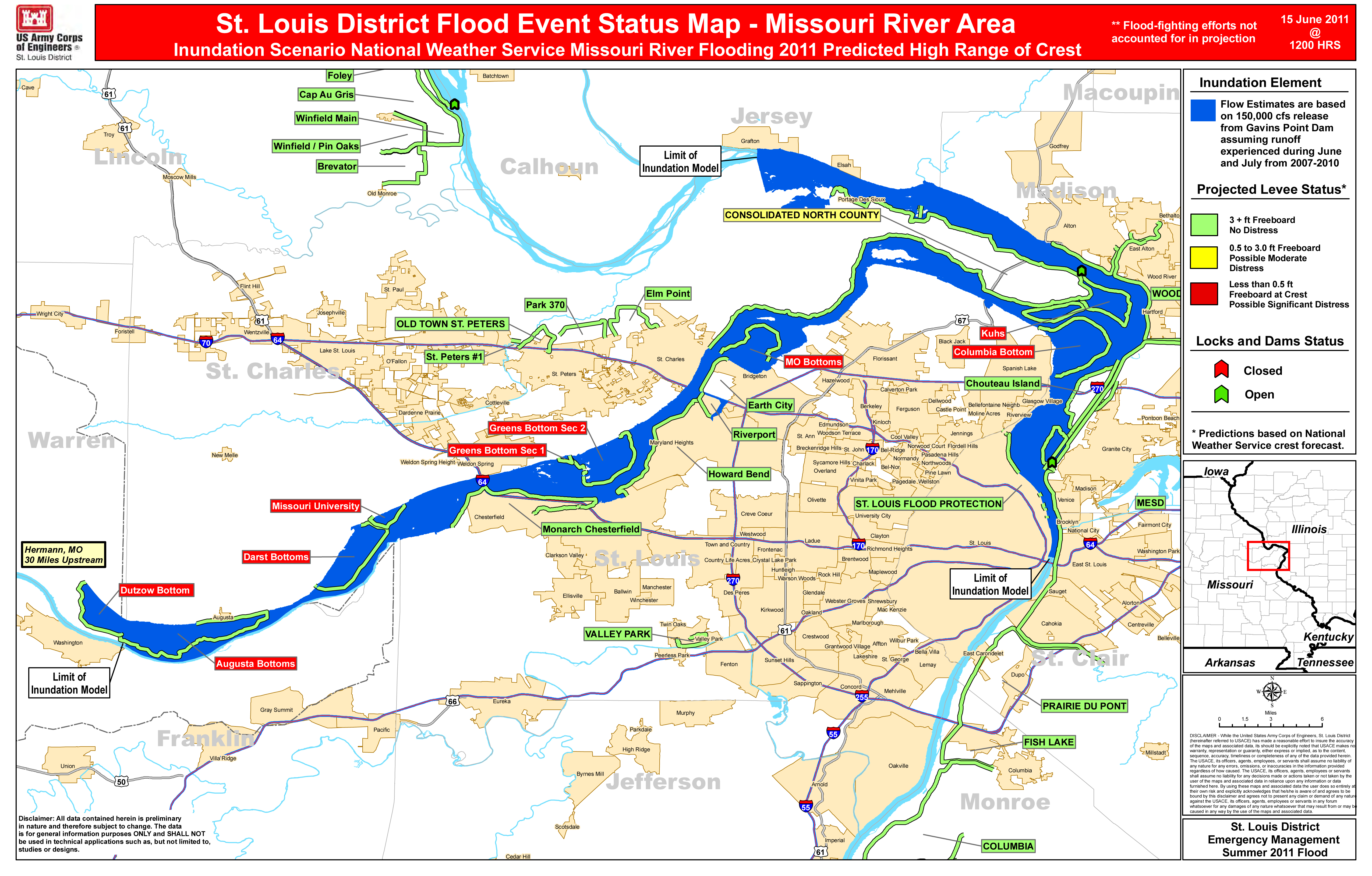 Missouri Flooding Map Reduction in Missouri River flow ahead of schedule | St. Louis  Missouri Flooding Map