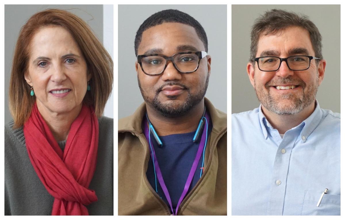 From left, Lynn Novick, Salih Israil and Paul Lynch joined Friday's program.