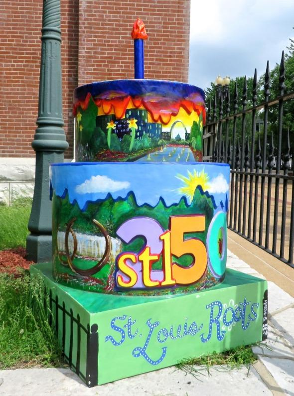 The Fiberglass Cake At Shrine Of St Joseph Is One Stl250 Sculptures Up For Auction