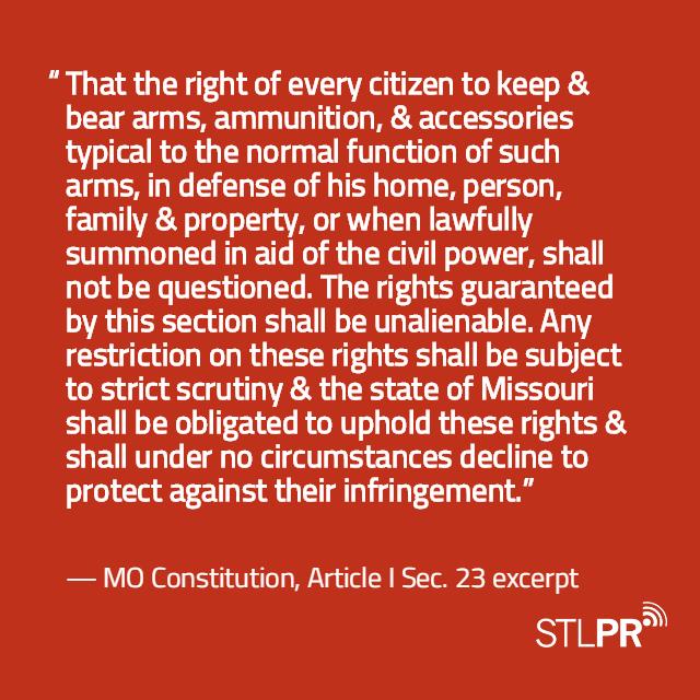 At a glance: Missouri and Illinois gun laws | St  Louis