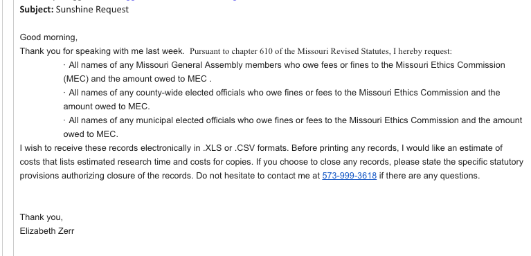 Curtis sues after being blocked from filing for Missouri