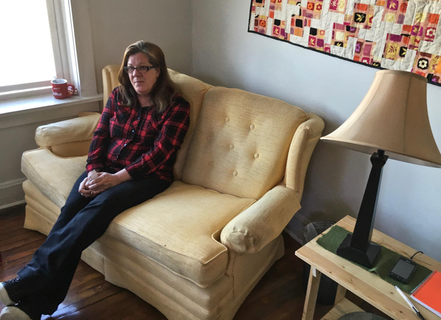Ann Garcia 54 Poses On A Couch She Got From The Home Sweet Furniture Bank