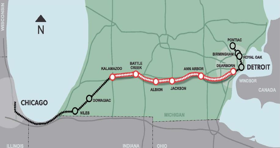 The 135 Miles Of Rail Line From Dearborn To Kalamazoo Will Be Owned By State Michigan Is Purchasing Norfolk Southern Railway